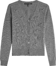 Wool Cardigan With Bows