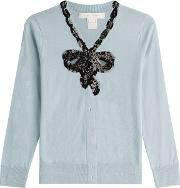 Wool Cardigan With Sequins