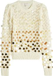 Wool Pullover With Sequins