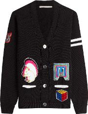 Cotton Cardigan With Appliques