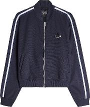 Embellished Track Top With Zip Front