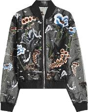 Underwater Embroidered And Embellished Chiffon Jacket