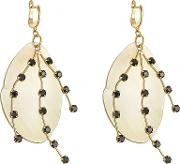 Embellished Earrings With Horn