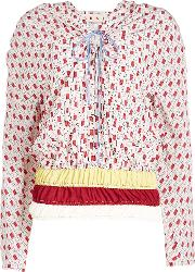 Printed Blouse With Silk
