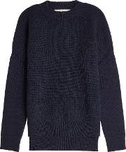 Ribbed Wool And Cashmere Pullover