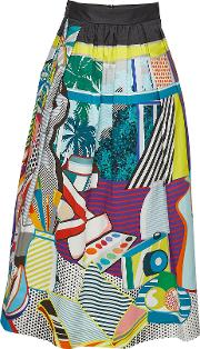 Printed Cotton Midi Skirt