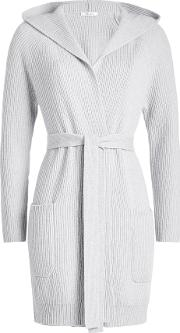 Belted Cardigan With Wool And Cashmere