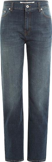 Cropped Straight Leg Jeans