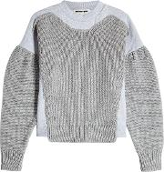 Mcq Alexander Mcqueen Cotton Sweatshirt With Knitted Detail