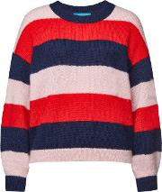 Jackson Striped Pullover With Mohair And Wool