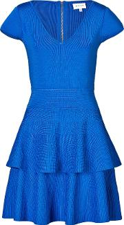 Cap Sleeve Dress With Tiered Skirt