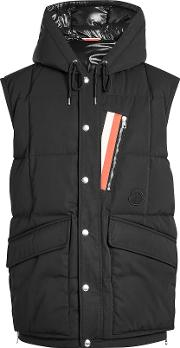 Ancas Quilted Down Vest With Hood