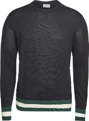 Cotton Pullover With Mesh Paneling