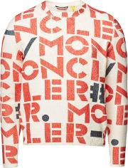 2 Moncler 1952 Printed Cotton Pullover