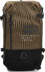 7 Moncler Fragment Hiroshi Fujiwara Fabric Backpack With Leather