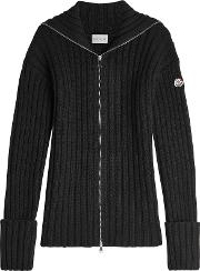 Ribbed Cardigan With Virgin Wool And Cashmere