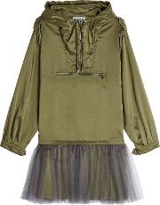 Anorak Dress With Tulle