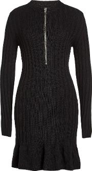 Dress With Wool And Cashmere