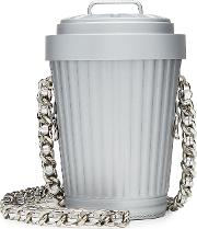 Trash Can Shoulder Bag With Chain Strap