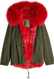 Parka With Fur Trimmed Hood And Lining