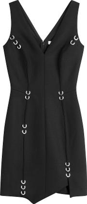 Stretch Wool Dress With Piercing Embellishment