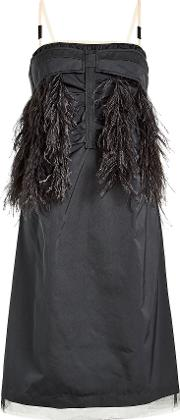 N&deg 21 Dress With Ostrich Feathers And Tulle