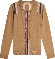 N&deg 21 Embellished Wool Silk Cardigan