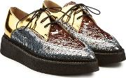 N&deg 21 Gravity Platform Leather Brogues With Sequins