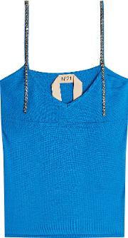 N&deg 21 Knit Camisole With Embellished Straps