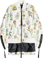 N&deg 21 Printed Satin Jacket