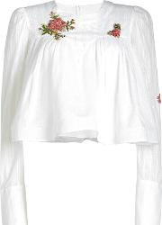 Embroidered Cotton Voile Blouse