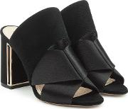 Nini Mules In Satin And Suede