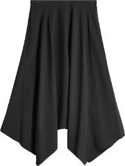 Midi Skirt With Handkerchief Hem