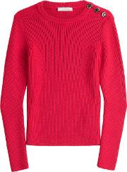 Wool Pullover With Buttons