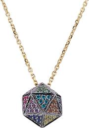 18kt Icosagon Pendant Necklace With Diamonds