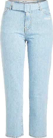 Off White Cropped Jeans