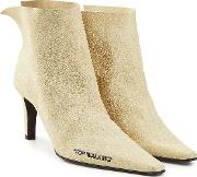 Off White For Walking Suede Leather Ankle Boots