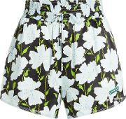 Off White Printed Shorts