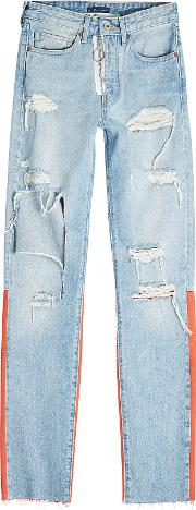 Off White X Levi's Distressed Skinny Jeans
