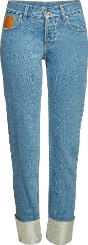 Jeans With Metallic Cuffs