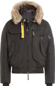 Down Jacket With Fur Trimmed Hood