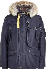 Down Jacket With Fur Trimmed Hood And Detachable Lining