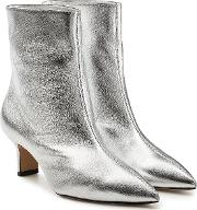 Mangold Metallic Leather Ankle Boots