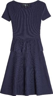Ribbed Dress With Silk