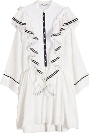 Cotton Dress With Ruffles
