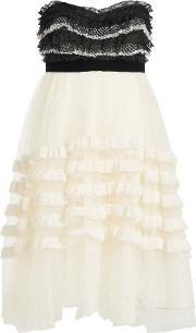 Philosophy Di Lorenzo Serafini Bandeau Dress With Lace And Tulle
