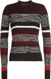 Striped Pullover With Wool, Silk And Cashmere