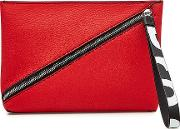 Zip Pouch Leather Clutch