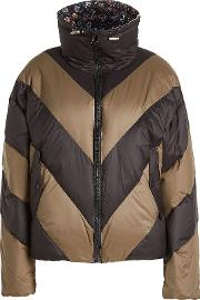 Down Jacket With Printed Lining