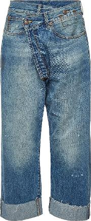 Crossover Distressed Jeans